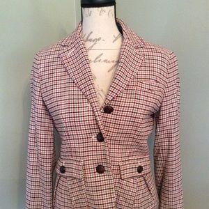Talbots plaid wool blend jacket sz 6P $55